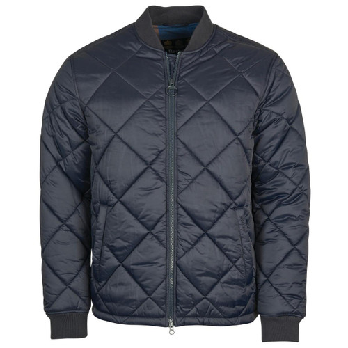 Navy Barbour Mens Umble Quilted Jacket