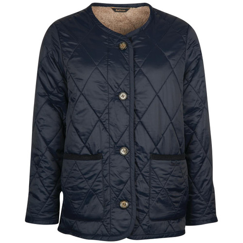 Navy Barbour Womens Roslin Quilted Jacket