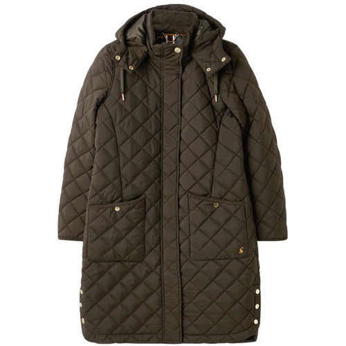 Heritage Green Joules Chatham Longline Quilted Coat