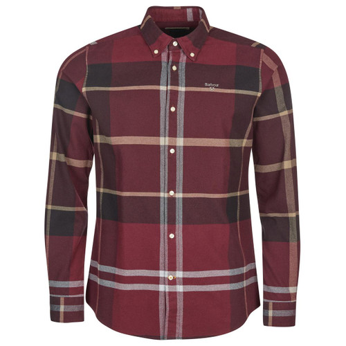 Winter Red Barbour Mens Iceloch Tailored Shirt