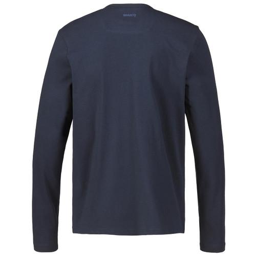 Navy Musto Mens Marina Long Sleeve Logo Tee Back