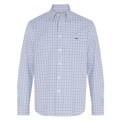 Pale Blue/White R.M. Williams Mens Collins Shirt