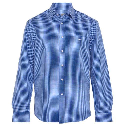 White/Blue R.M. Williams Mens Collins Shirt