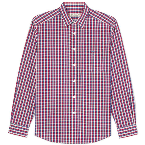 Navy/Red/White R.M. Williams Mens Collins Shirt