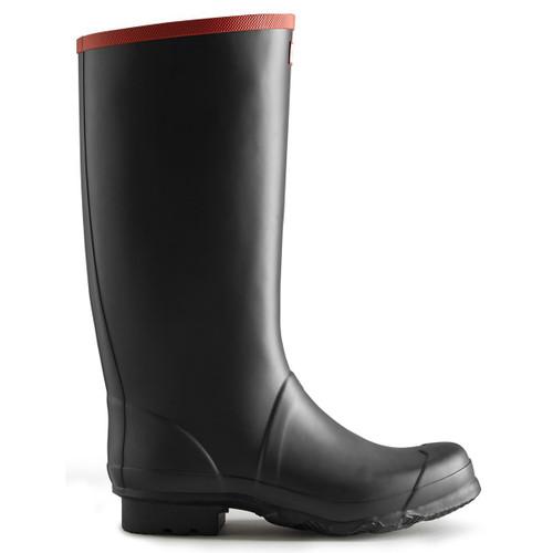 Black Hunter Unisex Argyll Full Knee Wellington Boots