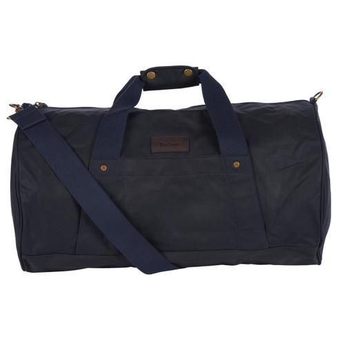 Navy Barbour Explorer Wax Duffle Bag