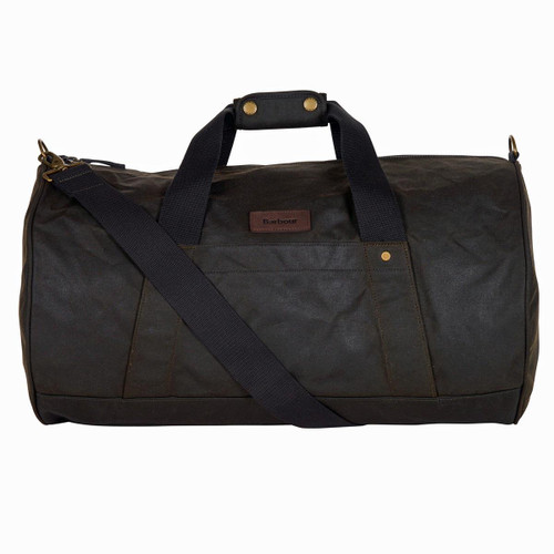 Olive Barbour Explorer Wax Duffle Bag