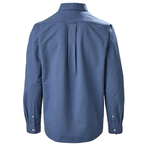 Pale Blue Musto Mens Aiden Long Sleeve Oxford Shirt Back