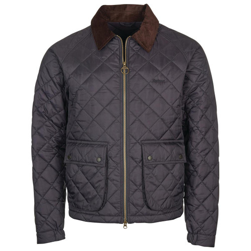 Navy Barbour Mens Dom Quilted Jacket