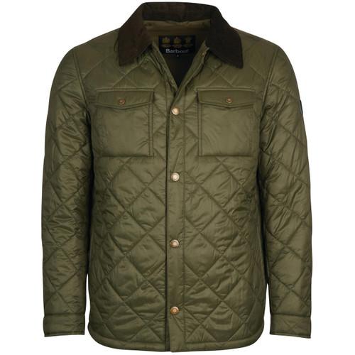 Olive Barbour Mens Shirt Quilt Jacket