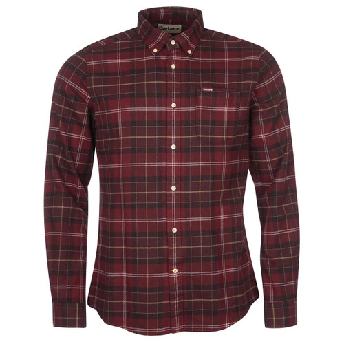 Winter Red Tartan Barbour Mens Kyeloch Tailored Shirt