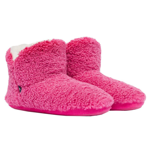 Pink Joules Womens Cabin Luxe Faux Fur Lined Slipper
