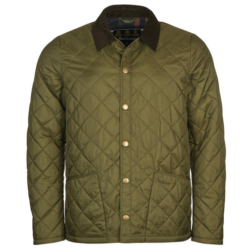 Green/Classic Barbour Mens Herron Quilted Jacket