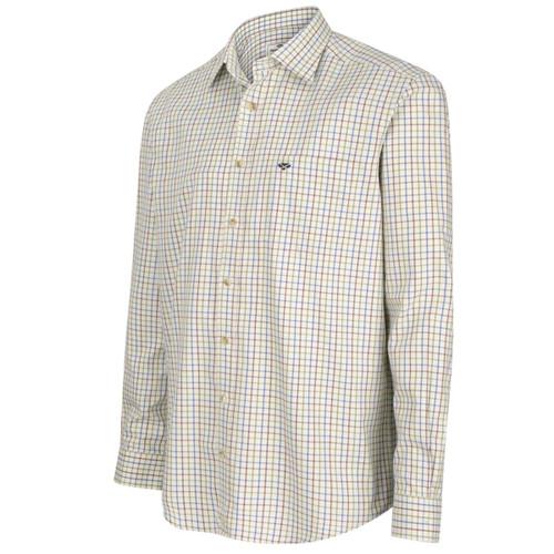 Wine/Blue/Green Hoggs Of Fife Inverness Cotton Tattersall Shirt