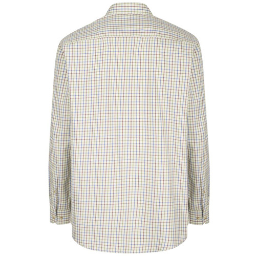 Wine/Blue/Green Hoggs Of Fife Inverness Cotton Tattersall Shirt Back