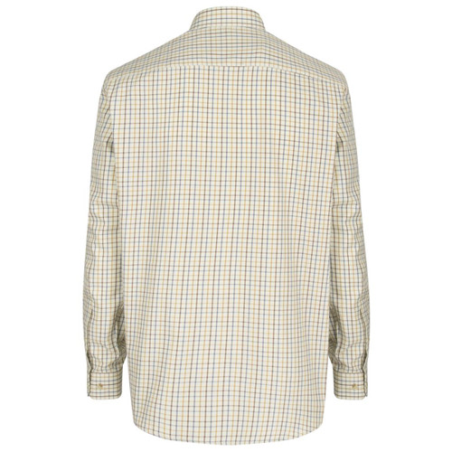 Brown/Gold/Navy Hoggs Of Fife Mens Inverness Cotton Tattersall ShirtBrown/Gold/Navy Hoggs Of Fife Mens Inverness Cotton Tattersall Shirt Back