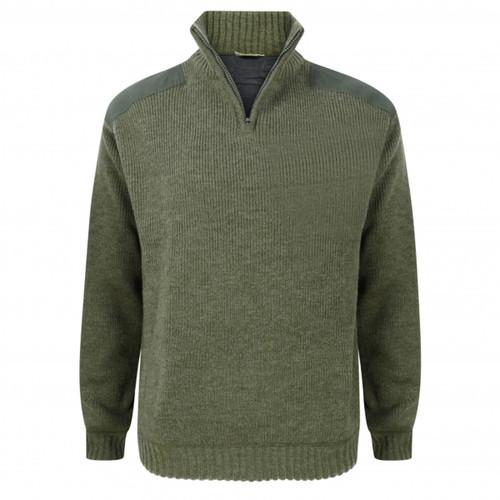 Loden Hoggs Of Fife Hebrides Zip-Neck Windproof Pullover