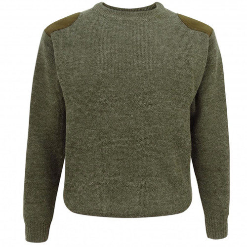 Soft Green Hoggs Of Fife Melrose Hunting Pullover