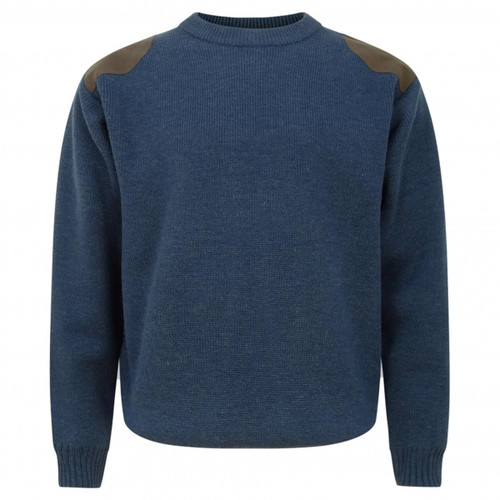 Marled Navy Hoggs Of Fife Melrose Hunting Pullover