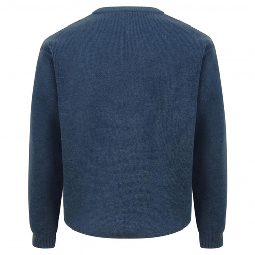Marled Navy Hoggs Of Fife Melrose Hunting Pullover Back