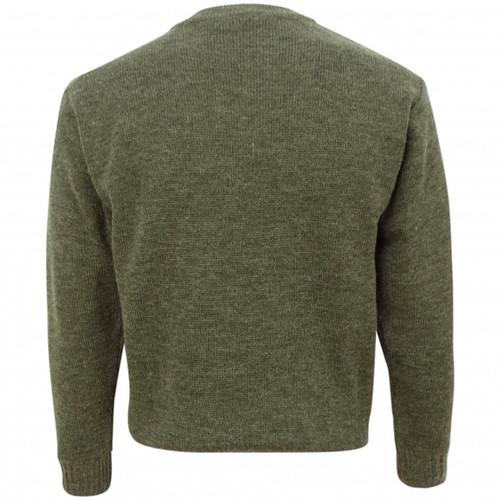 Soft Green Hoggs Of Fife Melrose Hunting Pullover Back