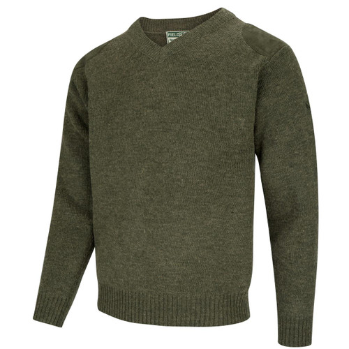 Dark Loden Hoggs Of Fife Melrose V-Neck Hunting Pullover