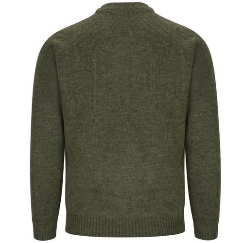 Dark Loden Hoggs Of Fife Melrose V-Neck Hunting Pullover Back