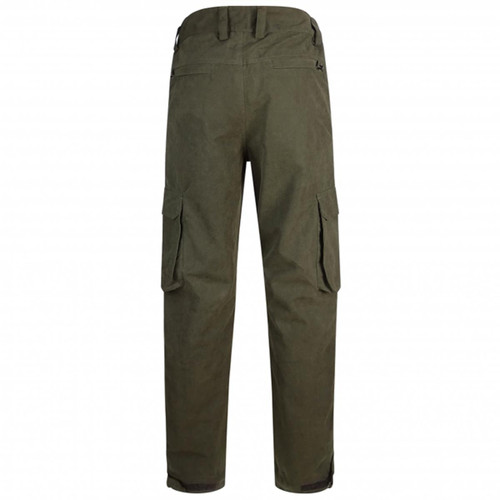 Dark Green Hoggs Of Fife Struther Field Trousers Back