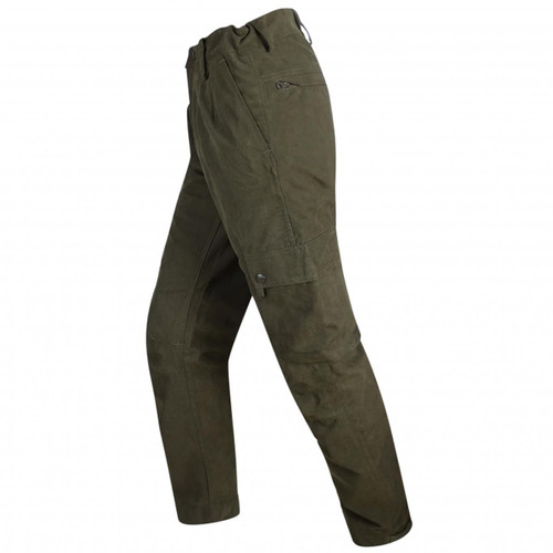Dark Green Hoggs Of Fife Struther Field Trousers Side