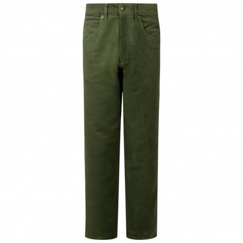 Dark Olive Hoggs Of Fife Mens Moleskin Jeans