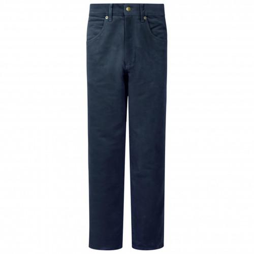 Dark Navy Hoggs Of Fife Mens Moleskin Jeans