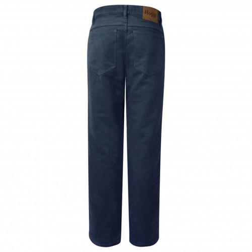 Dark Navy Hoggs Of Fife Mens Moleskin Jeans Back
