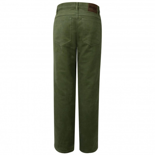 Dark Olive Hoggs Of Fife Mens Moleskin Jeans Back