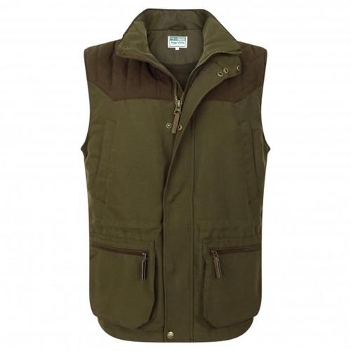Olive Green Hoggs Of Fife Mens Kincraig Field Waistcoat