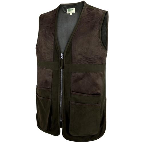 Dark Green Hoggs Of Fife Mens Struther Shooting Vest