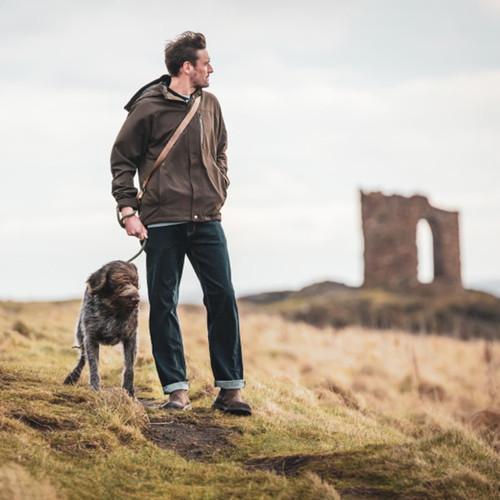 Dark Green Hoggs Of Fife Mens Struther Zip Through Jacket Lifestyle