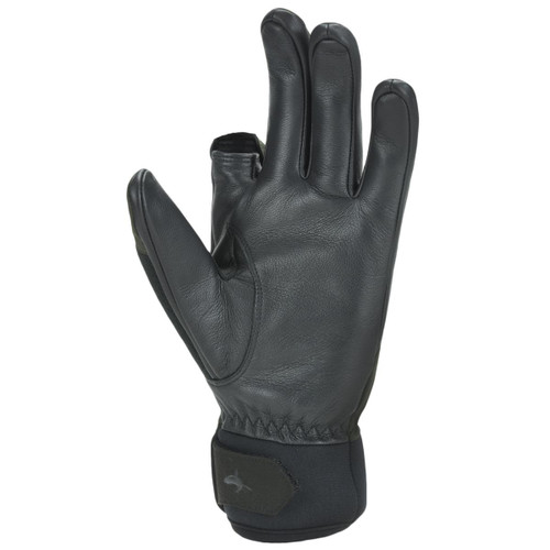 Olive/Black Sealskinz Waterproof All Weather Shooting Gloves Palm
