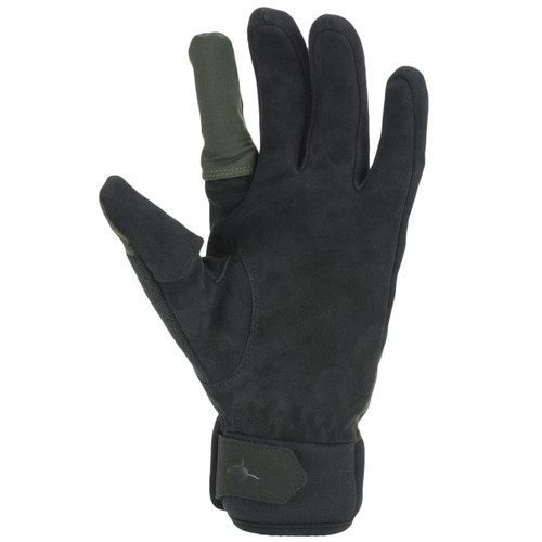 Olive/Black Sealskinz Waterproof All Weather Sporting Glove Palm