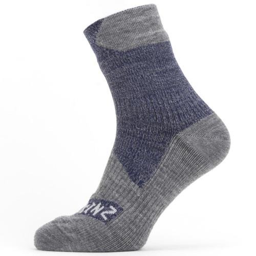 Navy Grey Sealskinz Waterproof All Weather Ankle Socks
