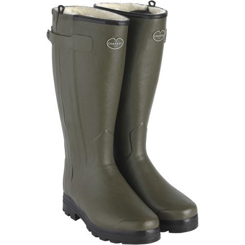 Vert Chameau Le Chameau Mens Chasseur Wool Lined Wellington Boots