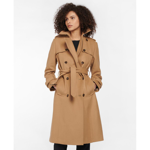 Barbour Womens Melrose Wool Coat Front