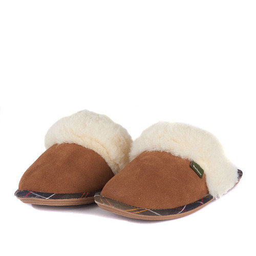Camel Barbour Womens Lydia Mule Slippers