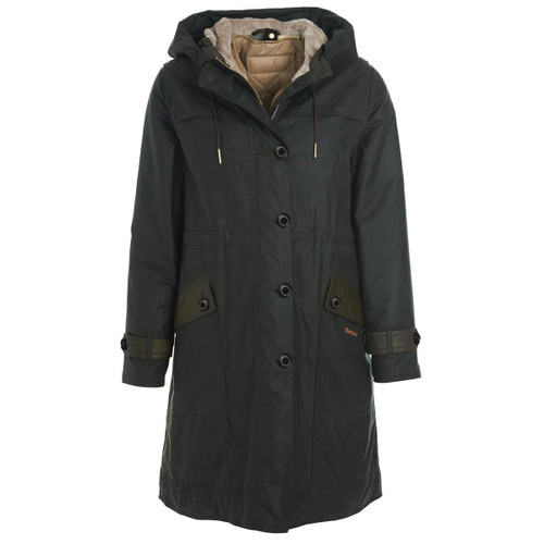 Sage/Ancient Barbour Womens Avoch Wax Jacket