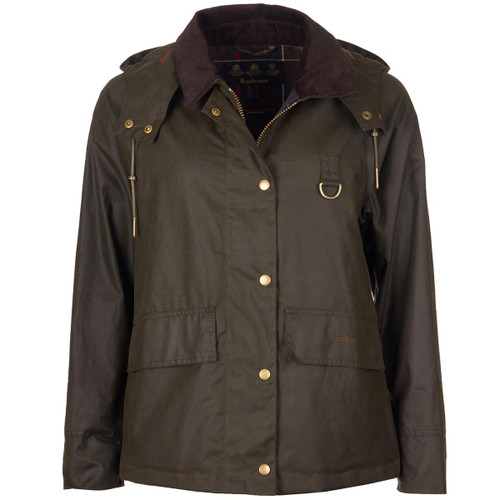 Olive/Classic Barbour Womens Avon Wax Jacket
