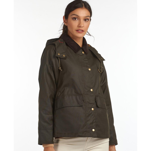 Barbour Womens Avon Wax Jacket Front