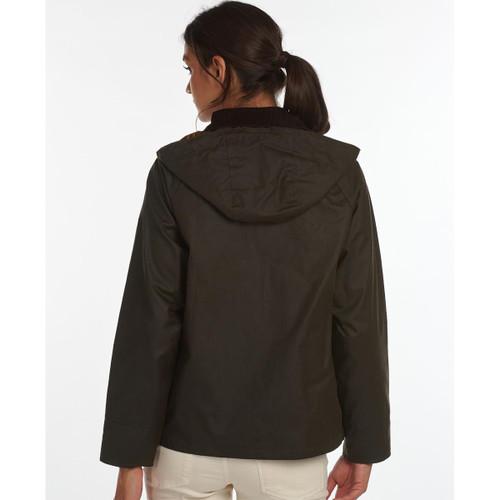 Barbour Womens Avon Wax Jacket Rear