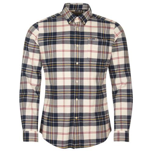 Ecru Barbour Mens Ronan Tailored Check Shirt