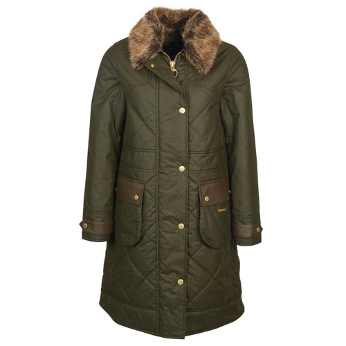 Archive Olive Barbour Womens Golspie Wax Jacket