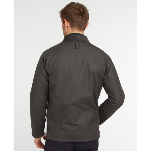 Barbour Mens Rigg Wax Jacket Rear