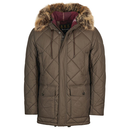 Rustic/Winter Red Barbour Mens Holburn Quilted Jacket